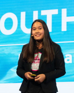 At the age of 10, Isabel Wijsen and her sister founded a the campaign group Bye Bye in their home, Bali, to tackle the issue of plastic waste.  Bühler Group