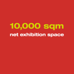 10,000 qm net exhibition space