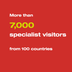 More than 7,000 specialist visitors from more than 100 countries